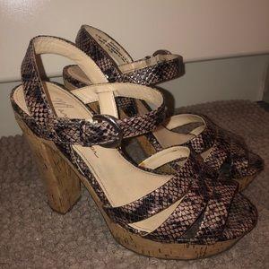 Marc Fisher snake print heel